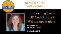 Incorporating Custom PHP Code in Fabrik Website Applications