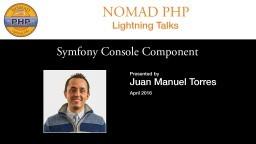 Symfony Console Component